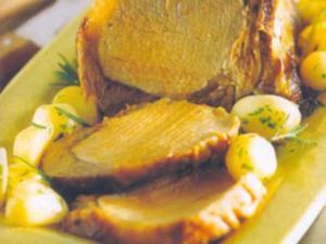 Receita de Carrê com batata tinhas ao forno
