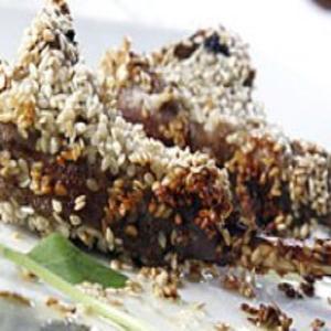 Receita de Carré de Cordeiro em crosta de gergelim