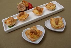Receita de Cestinhas de Cream Cheese e Damasco