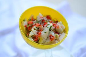 Receita de Ceviches de Peixe Branco