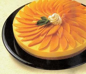 Receita de Cheesecake com calda de manga