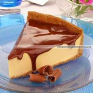 Receita de Cheesecake de Doce de Leite com Glacê de Chocolate