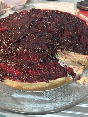 Receita de Cheesecake Integral de Frutas Vermelhas