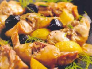 Receita de Coelho com azeitonas e erva-doce selvagem