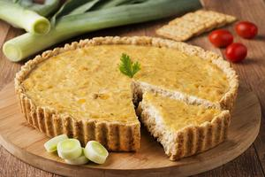 Receita de Quiche de Frango com Cream Cracker
