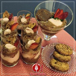 Receita de Cookie com Creme de Iogurte de Chocolate