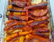 Costela de porco com molho barbecue