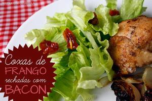 Receita de Coxas de Frango Recheadas com Bacon