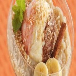 Receita de Creme de banana com coco e sorvete