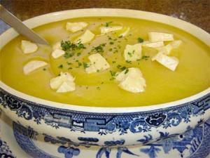 Receita de Creme de Batata Baroa e Queijo Brie