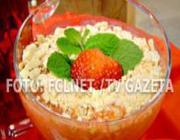Creme de morango quente