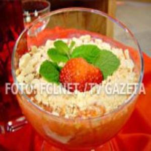 Receita de Creme de morango quente