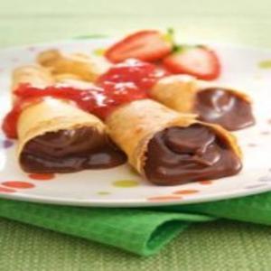 Receita de Crepe de rosquinha com chocolate
