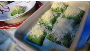 Receita de Crepe Verde com Recheio de Mandioquinha