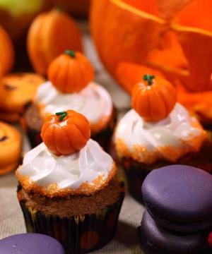 Receita de Cupcake de Abóbora com Marshmallow