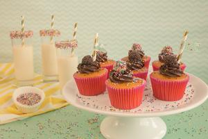 Receita de Cupcake de Cenoura com Brigadeiro
