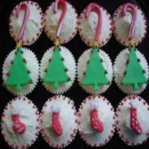 Receita de Cupcake de Natal