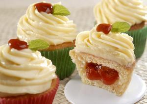 Receita de Cupcake Romeu e Julieta