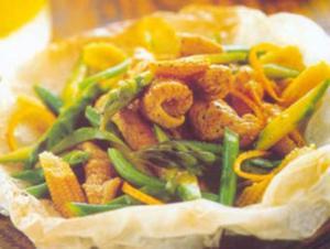 Receita de Envelope de peru com verduras