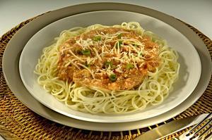 Receita de Espaguete ao Molho Cremoso de Ricota