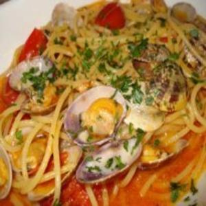 Receita de Espaguete ao molho de vôngole