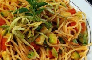 Receita de Espaguete com Abobrinha