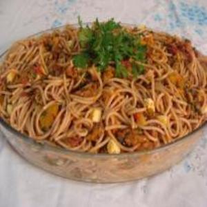 Receita de Espaguete com Carne-Seca