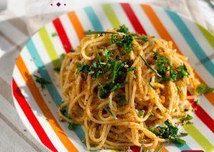Receita de Espaguete com Ervas Finas