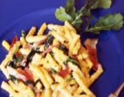 Espaguete com frango de microondas