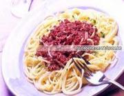 Espaguete com Pasta de Azeitona