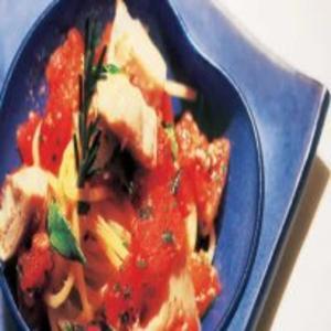 Receita de Espaguete com tomate e alcachofra