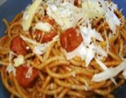 Espaguete de Calabresa
