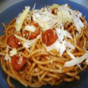 Receita de Espaguete de Calabresa