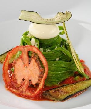Receita de Espaguete de Rúcula alla Chitarra