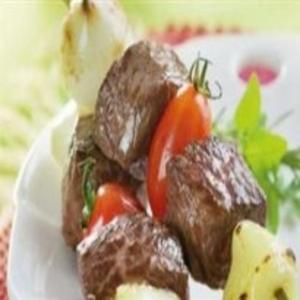 Receita de Espetinho de carne com mussarela de bufala