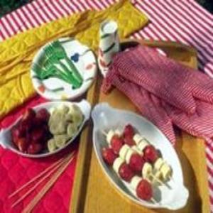 Receita de Espetinho de Frutas