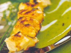 Receita de Espetinho saboroso de frango