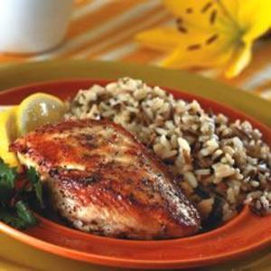 Receita de Filé de frango com limão siciliano e orégano