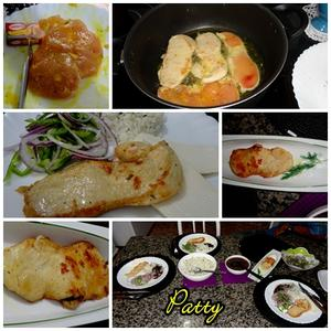 Receita de Filé de frango grelhado com caldo de galinha