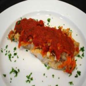 Receita de Filé de Peixe ao molho de tomate