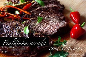 Receita de Fraldinha Assada com Legumes e Mix de Pimentas