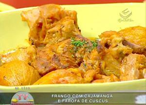 Receita de Frango com Cajamanga e Farofa de Cuscuz