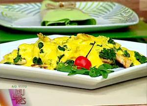 Receita de Frango com espinafre e mostarda