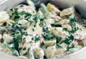 Receita de Fricassé de Frango com Batatas e Aspargos