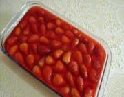 Gelatina ao creme com morangos