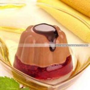 Receita de Gelatina de chocolate e framboesa