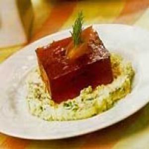 Receita de Gelatina de hibisco com salmão