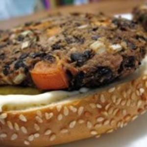 Receita de Hambúrguer vegetariano de feijão preto
