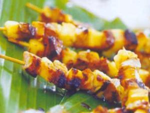 Receita de Kebabs à havaiana
