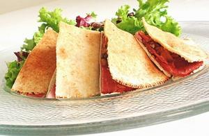 Receita de Lanche Natural com Pão Sírio